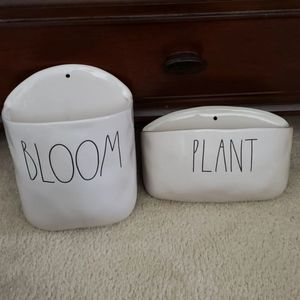 Rae Dunn wall planter bundle